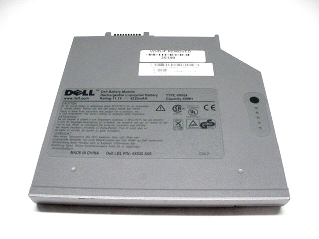 For Dell Latitude D Series 2nd Bay Battery  U2013 4r084  U2013 Parts
