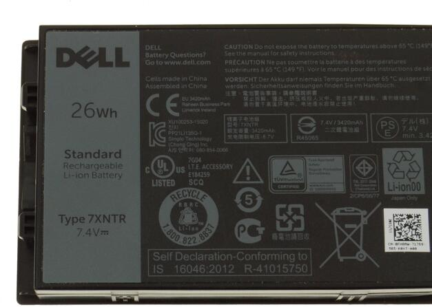 26wh 3 Cell For Dell Latitude 12 Rugged Tablet 7202 Laptop
