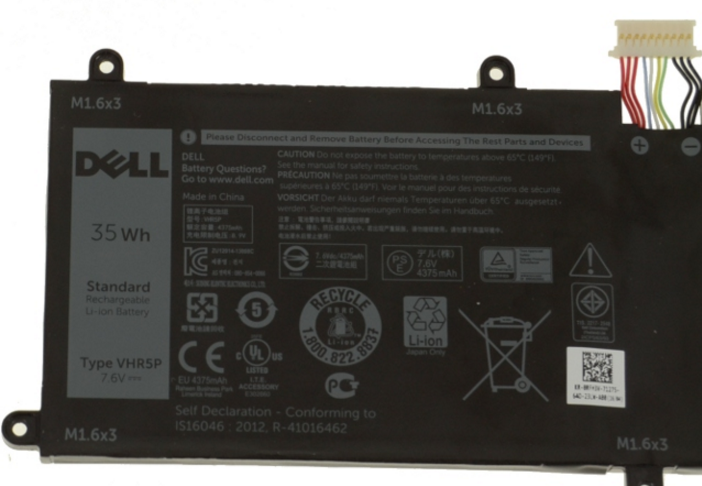 35wh Dell Latitude 11 5175 Tablet Laptop Battery Vhr5p