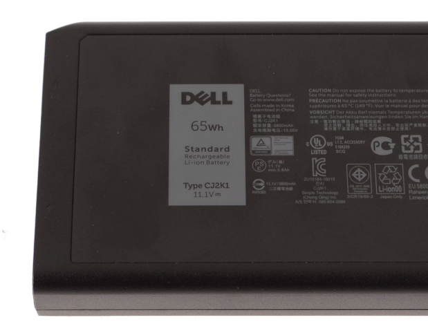 Cj2k1 65wh 6 Cell For Dell Latitude 14 Rugged Extreme